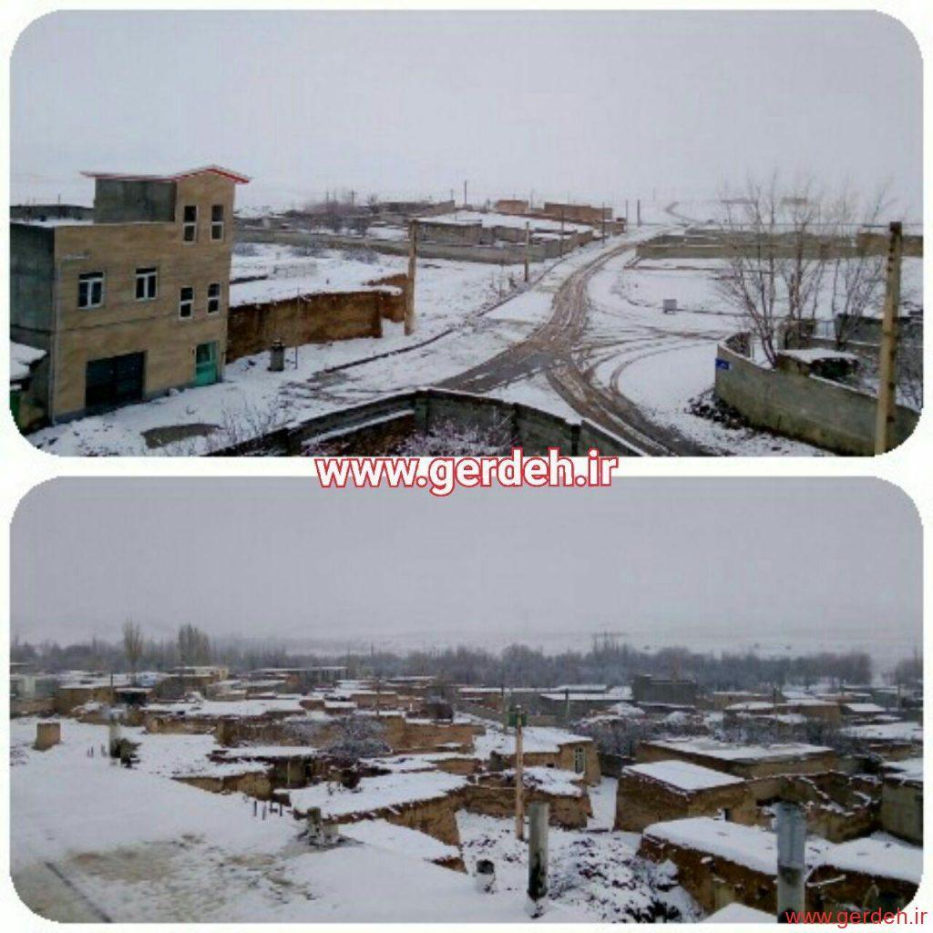 تصاویری از روز برفی روستای گرده
